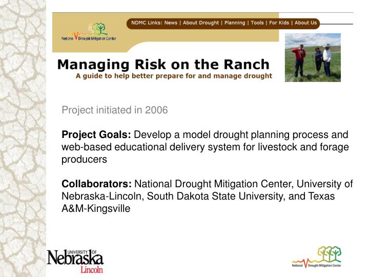 Project initiated in 2006