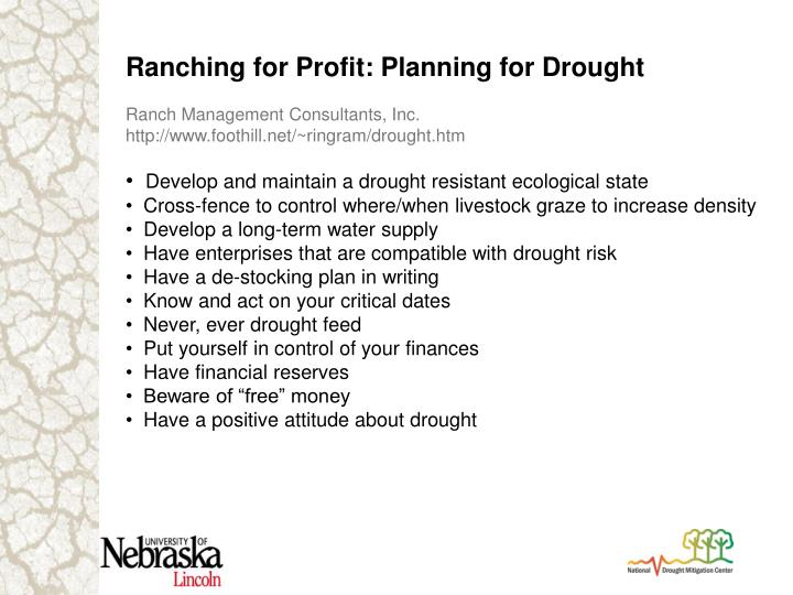 Ranching for Profit: Planning for Drought