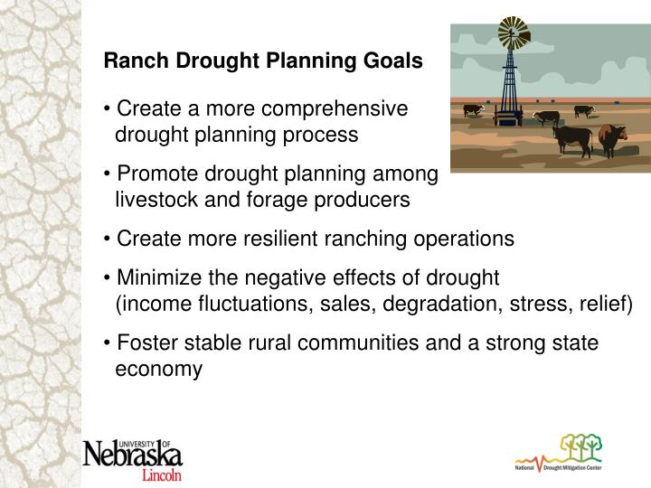 Ranch Drought Planning Goals