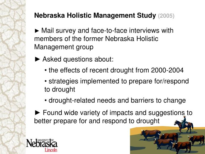 Nebraska Holistic Management Study