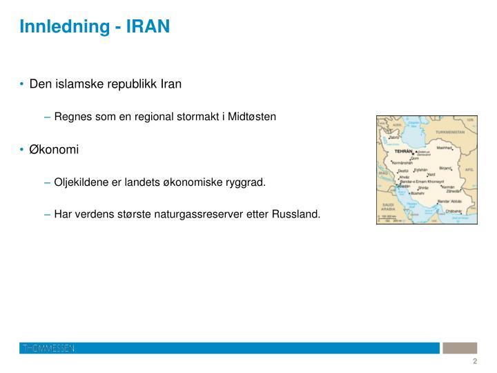 Innledning - IRAN