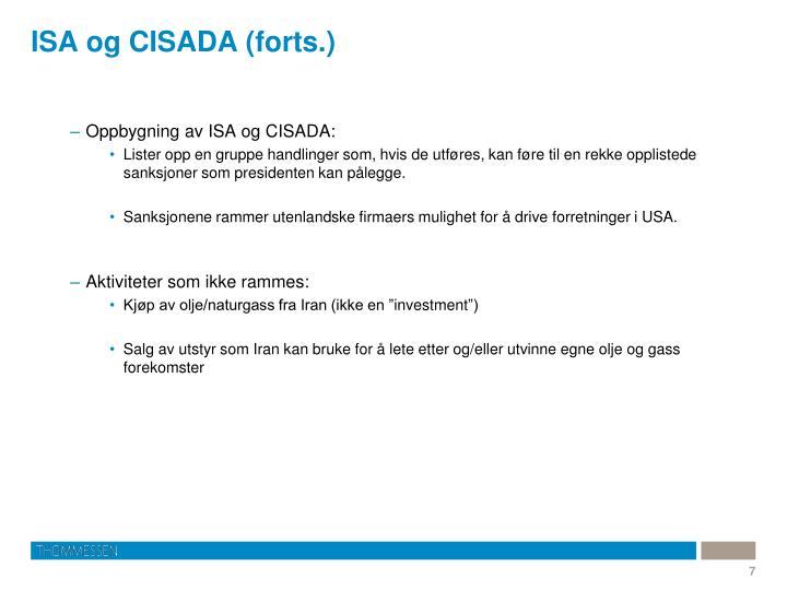 ISA og CISADA (forts.)