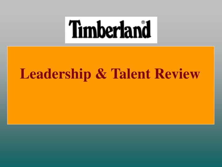 Leadership & Talent Review