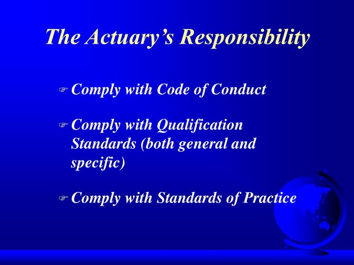 Comply with Code of Conduct
