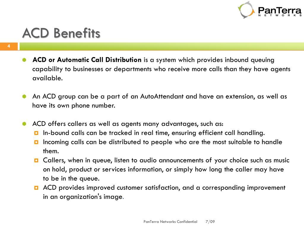 ACD Benefits