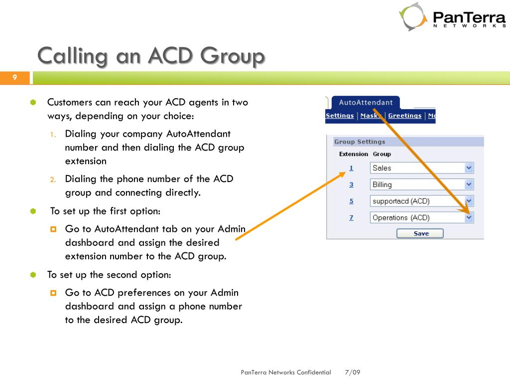 Calling an ACD Group