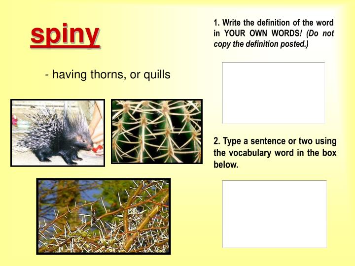 1 write the definition of the word in your own words do not copy the definition posted l.jpg