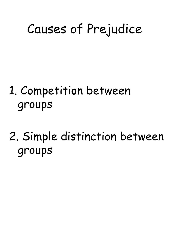 Causes of Prejudice