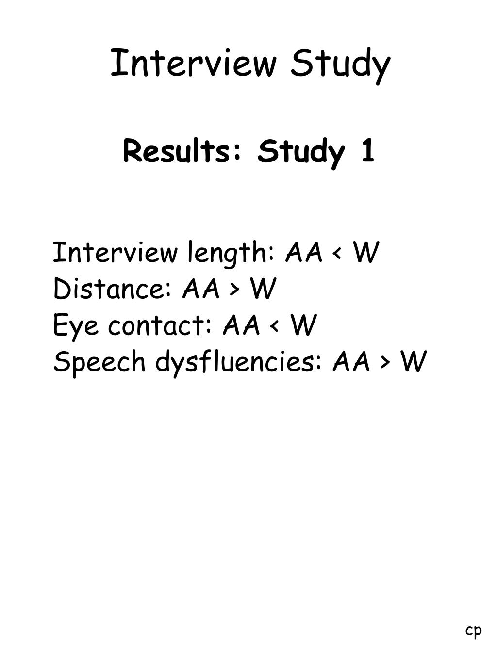 Interview Study