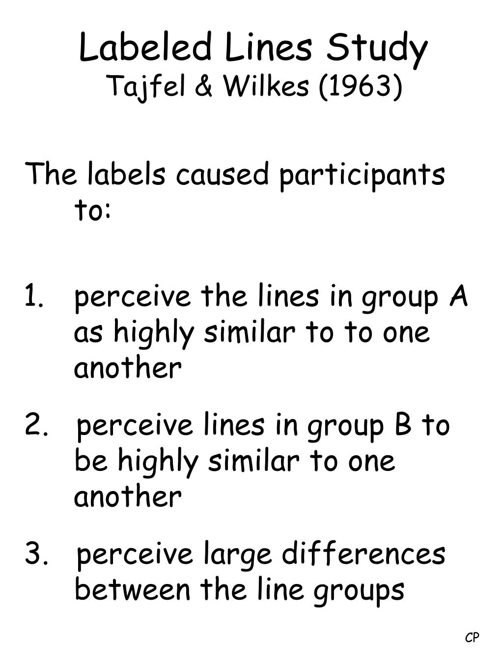 Labeled Lines Study