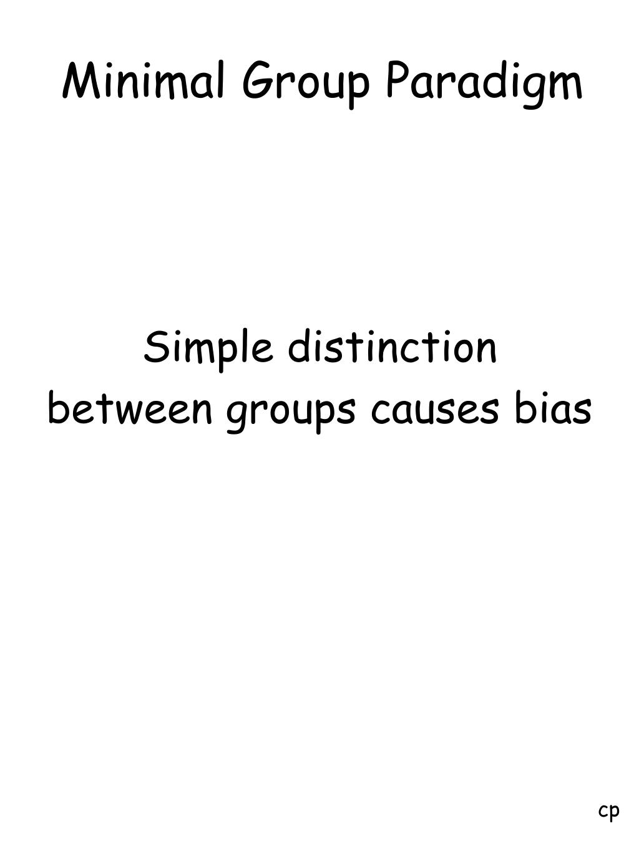 Minimal Group Paradigm
