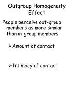outgroup homogeneity effect
