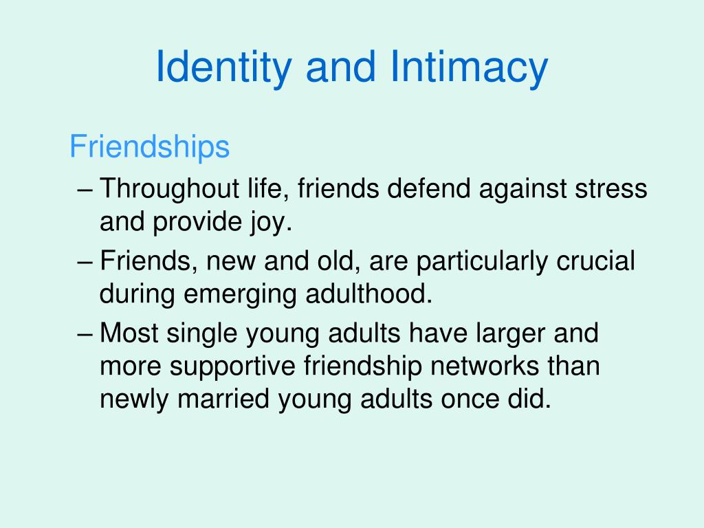 Identity and Intimacy
