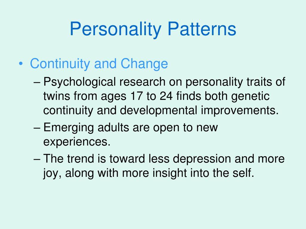 Personality Patterns