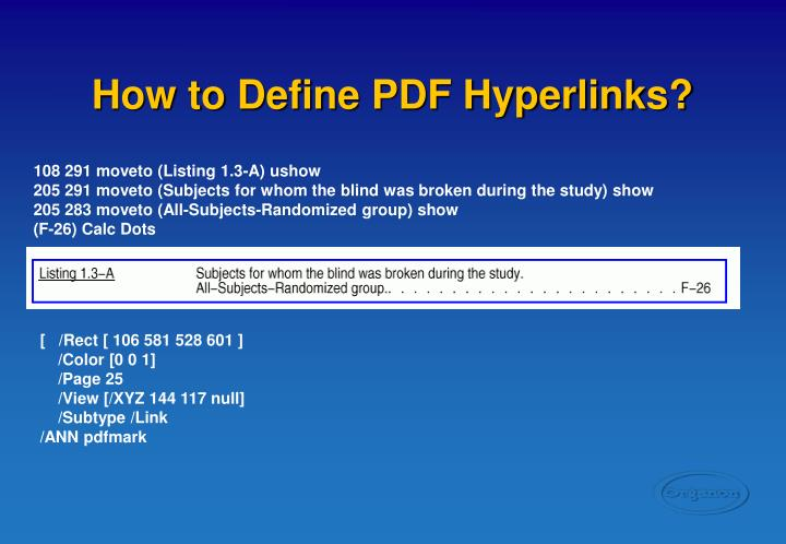 How to Define PDF Hyperlinks?