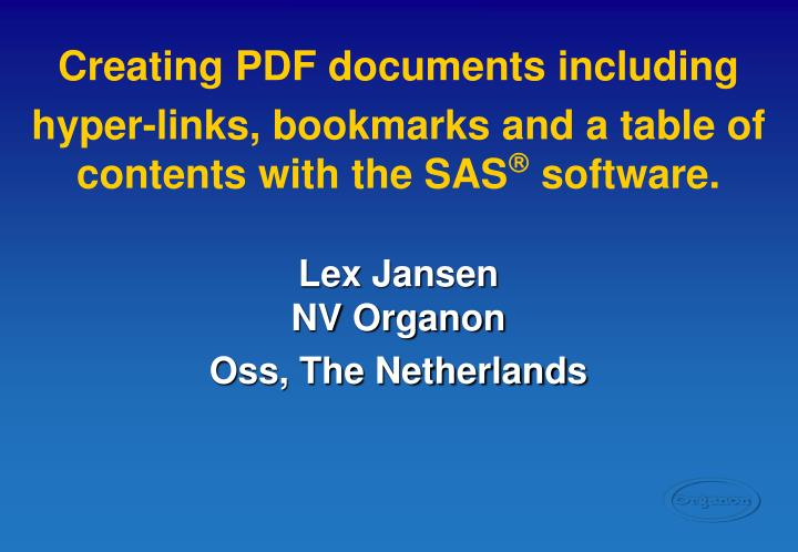 Creating PDF documents including