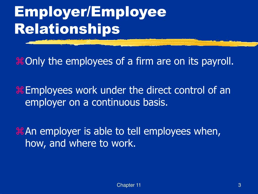taxing employers and employees relationship