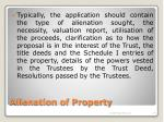 alienation of property10