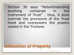 alienation of property5