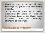 alienation of property6