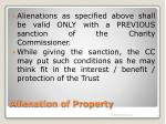 alienation of property7