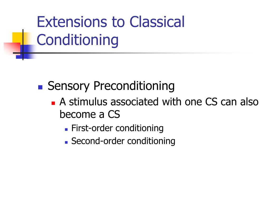Extensions to Classical Conditioning