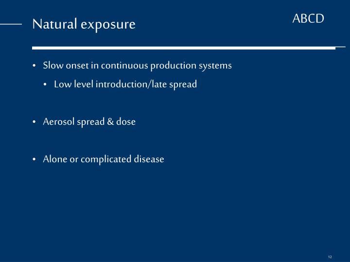 Natural exposure