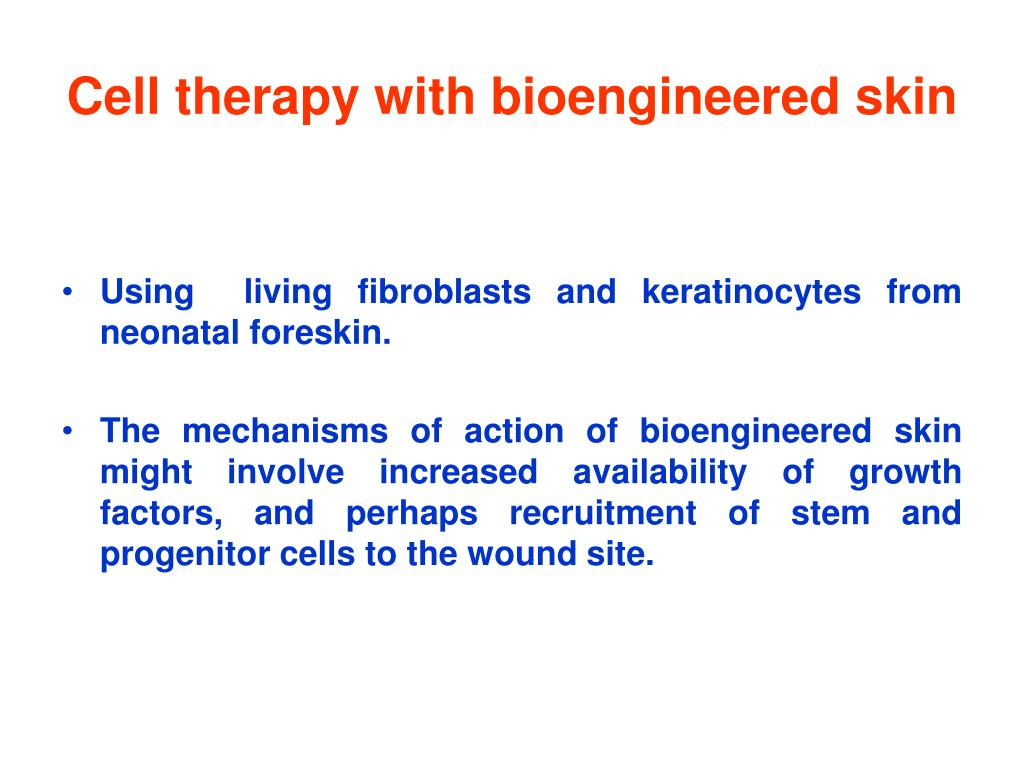 Cell therapy with bioengineered skin