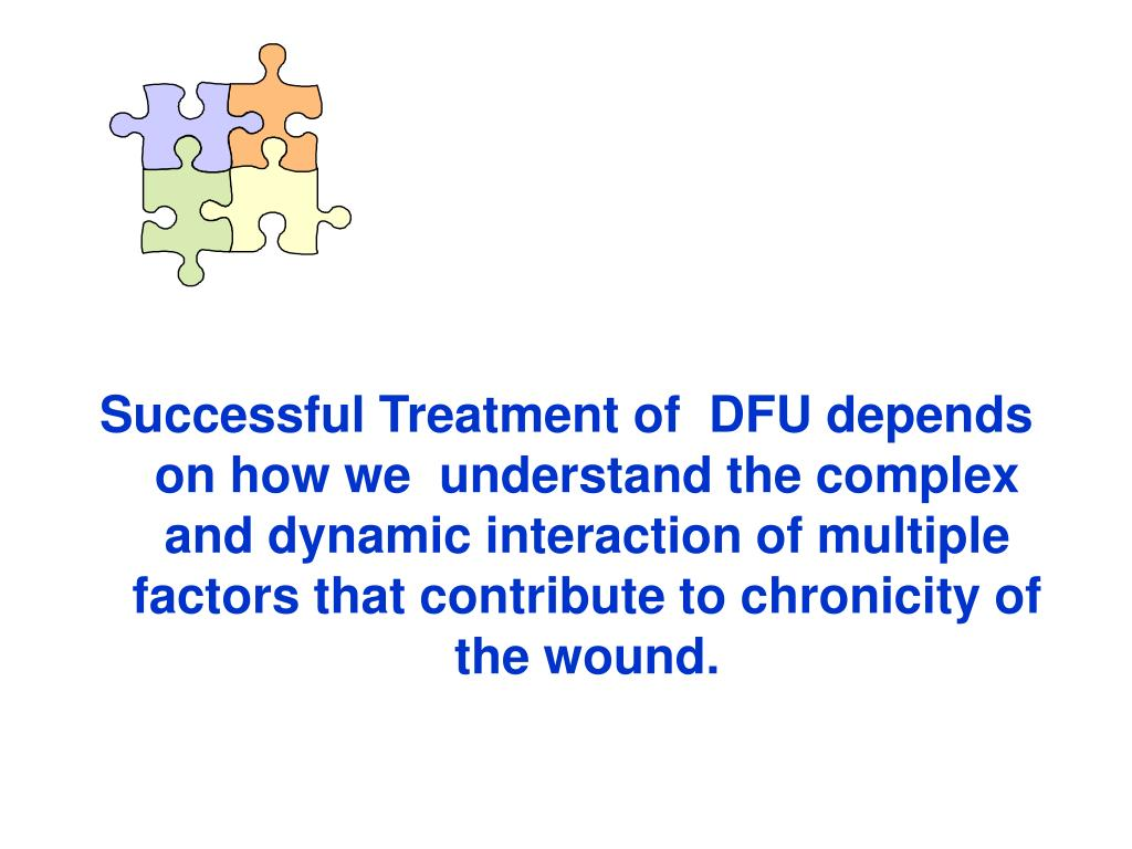 Successful Treatment of  DFU depends on how we  understand the complex and dynamic interaction of multiple factors that contribute to chronicity of the wound.