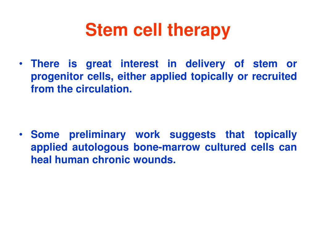 Stem cell therapy