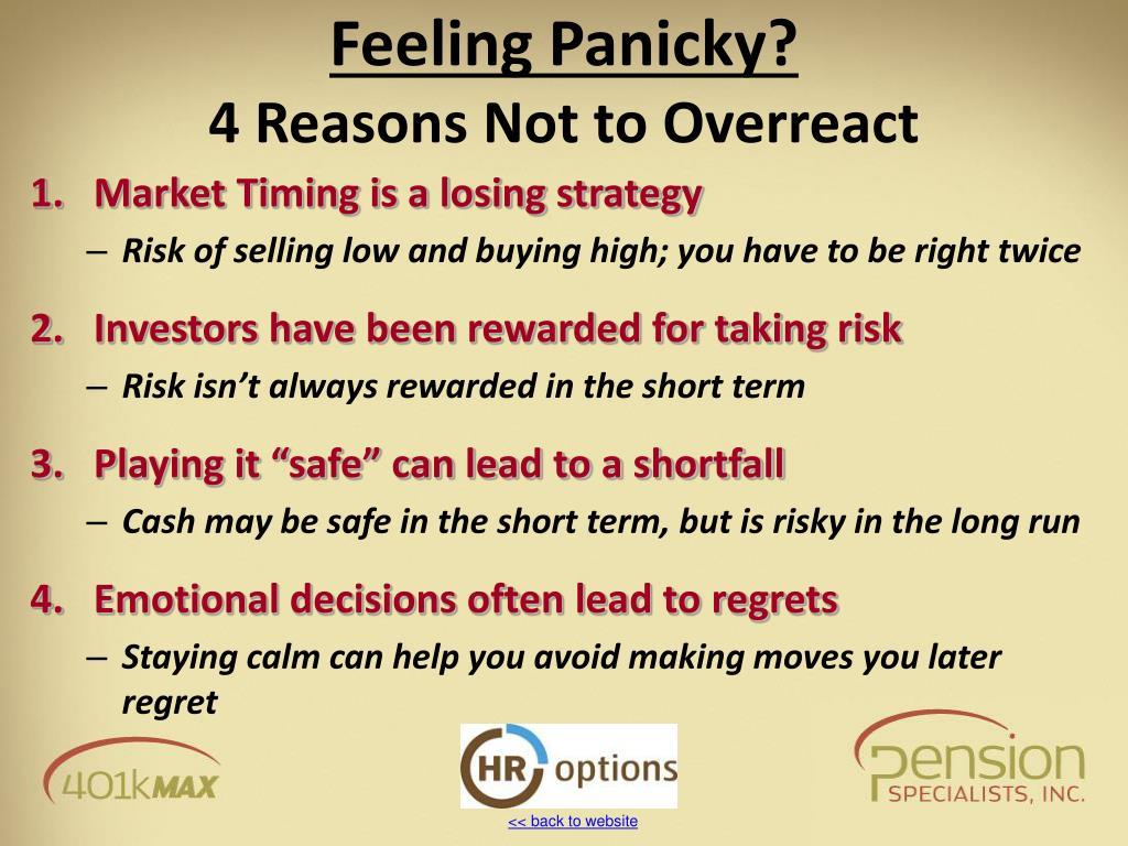 Feeling Panicky?