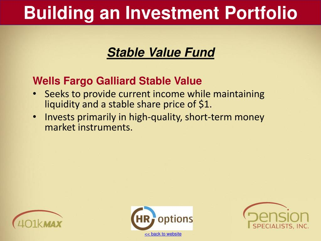Wells Fargo Galliard Stable Value