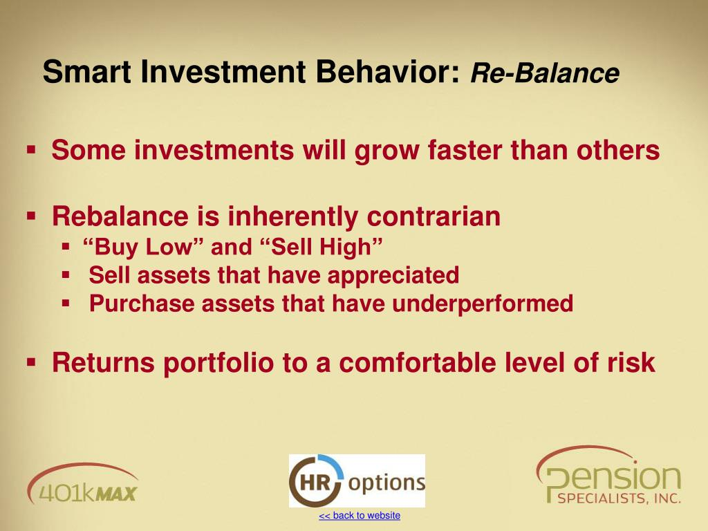 Smart Investment Behavior: