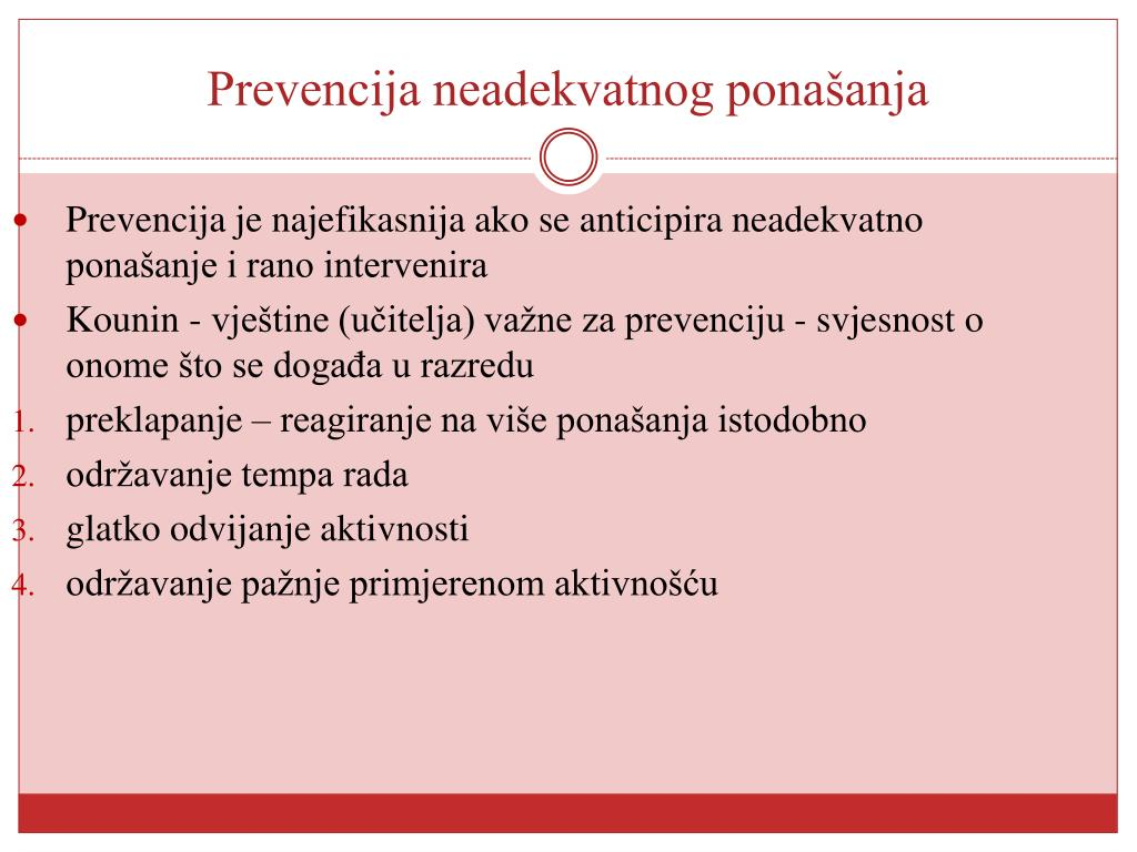 Prevencija neadekvatnog ponašanja
