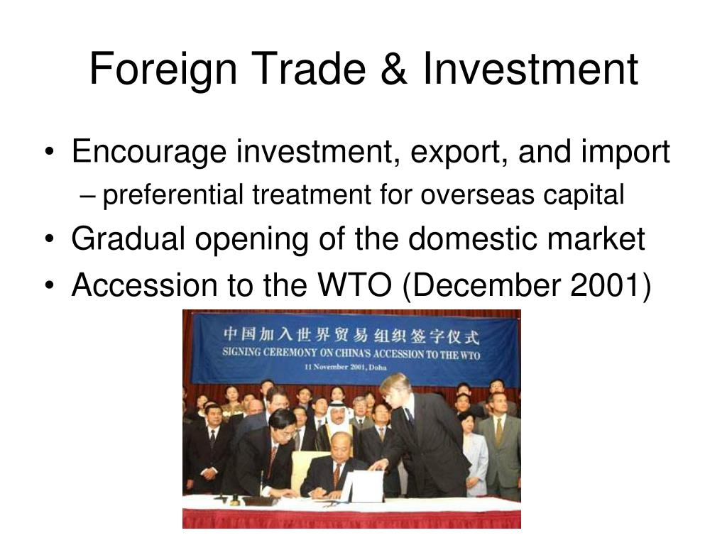 Foreign Trade & Investment