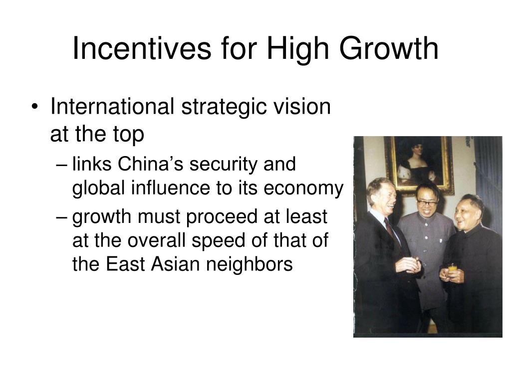 Incentives for High Growth