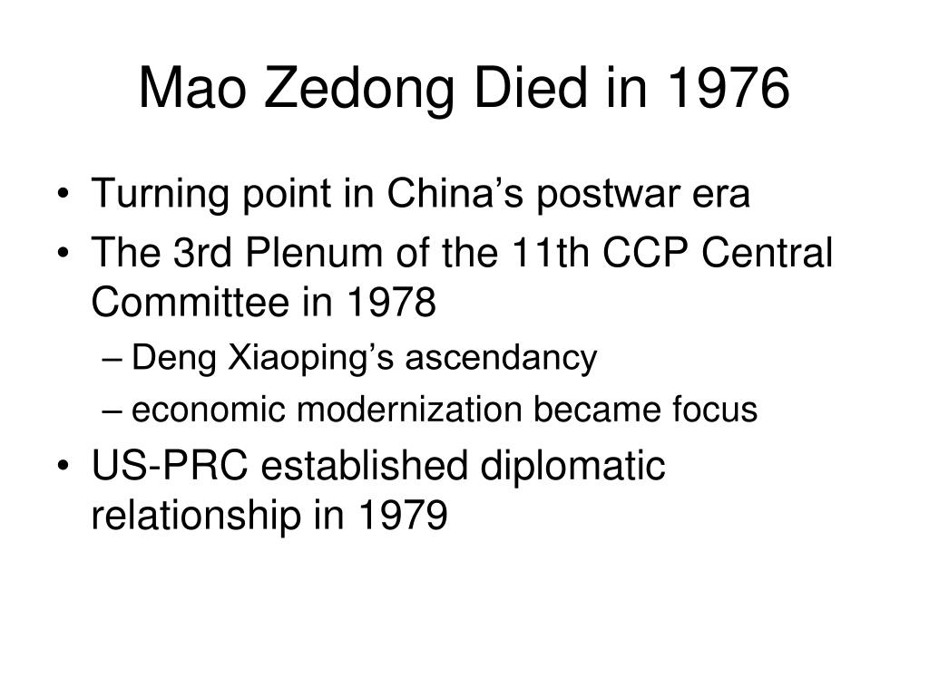 Mao Zedong Died in 1976