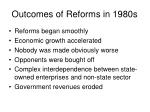 outcomes of reforms in 1980s