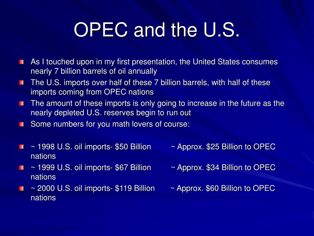 OPEC and the U.S.