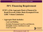 50 financing requirement