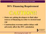 50 financing requirement20