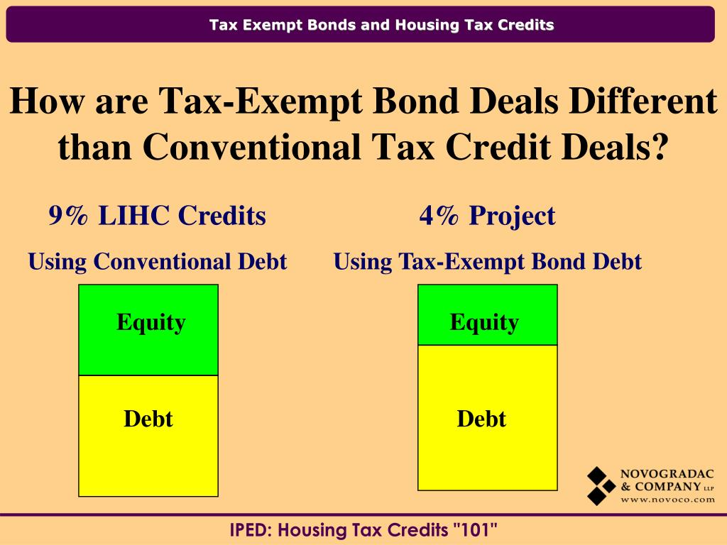 How are Tax-Exempt Bond Deals Different than Conventional Tax Credit Deals?
