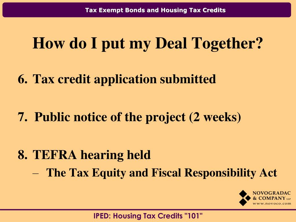 Tax credit application submitted