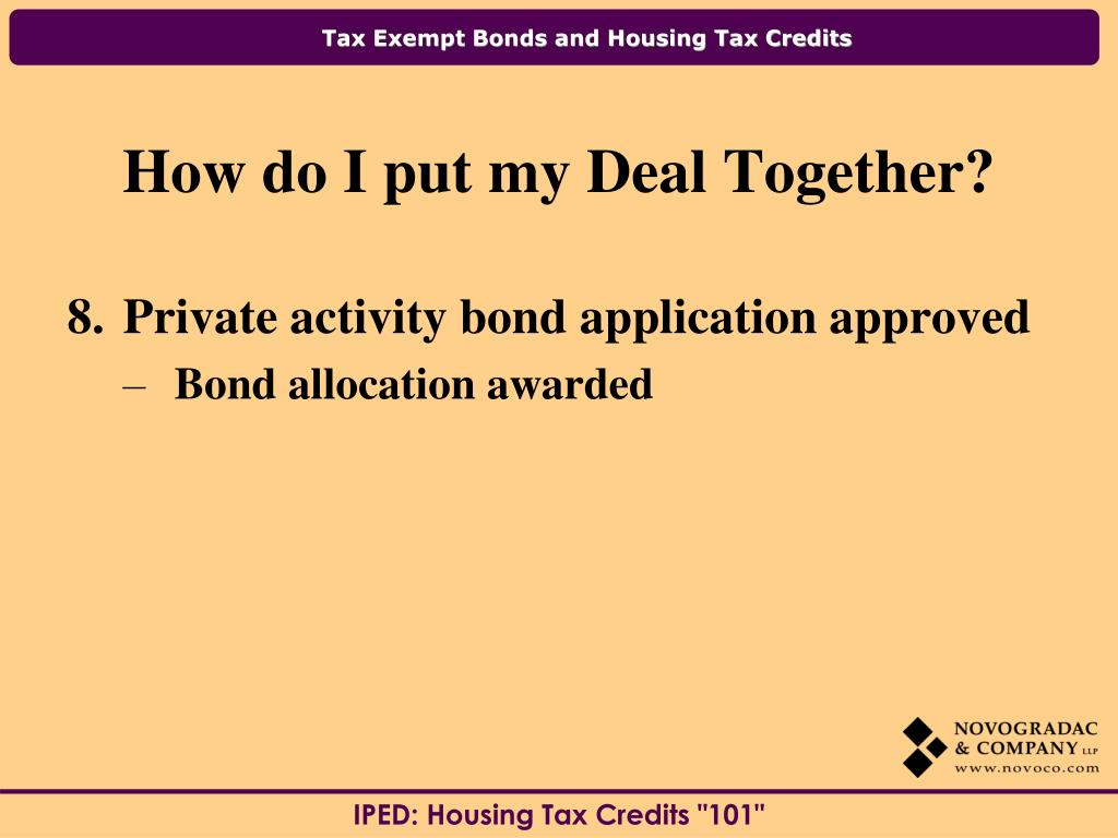 Private activity bond application approved
