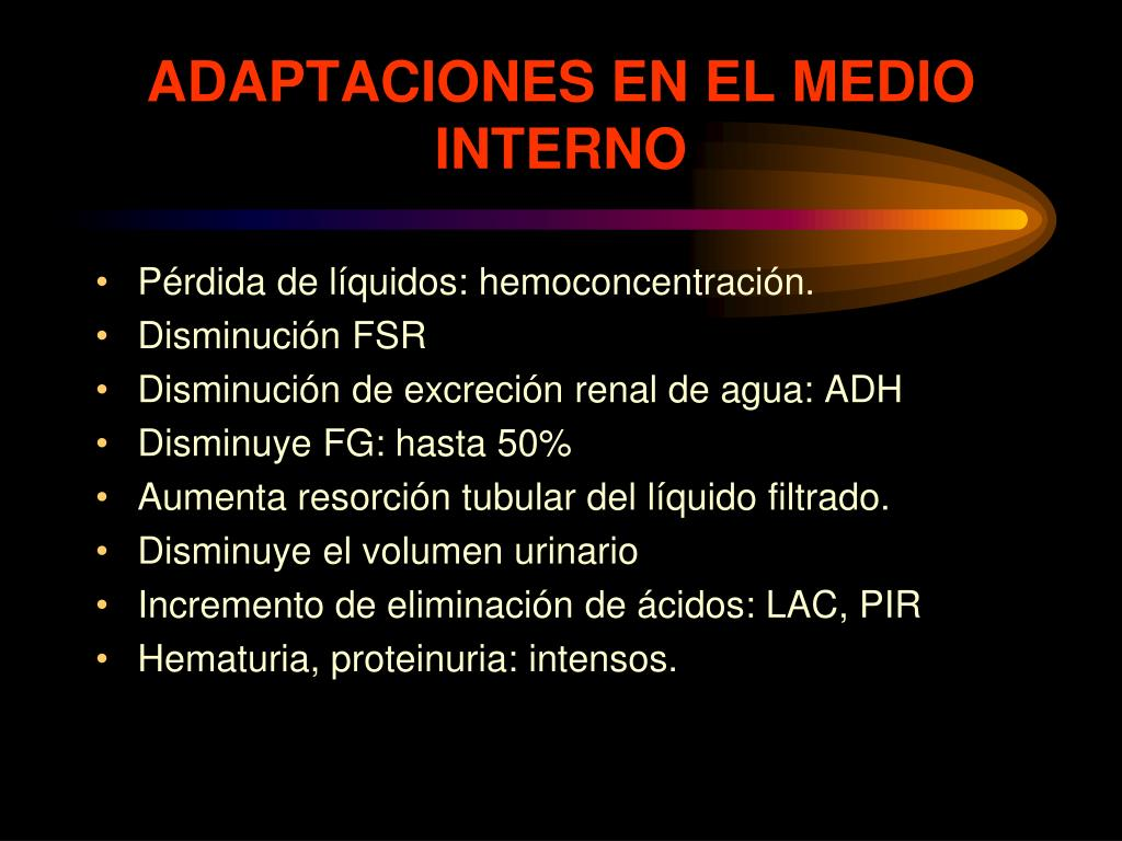 ADAPTACIONES EN EL MEDIO INTERNO