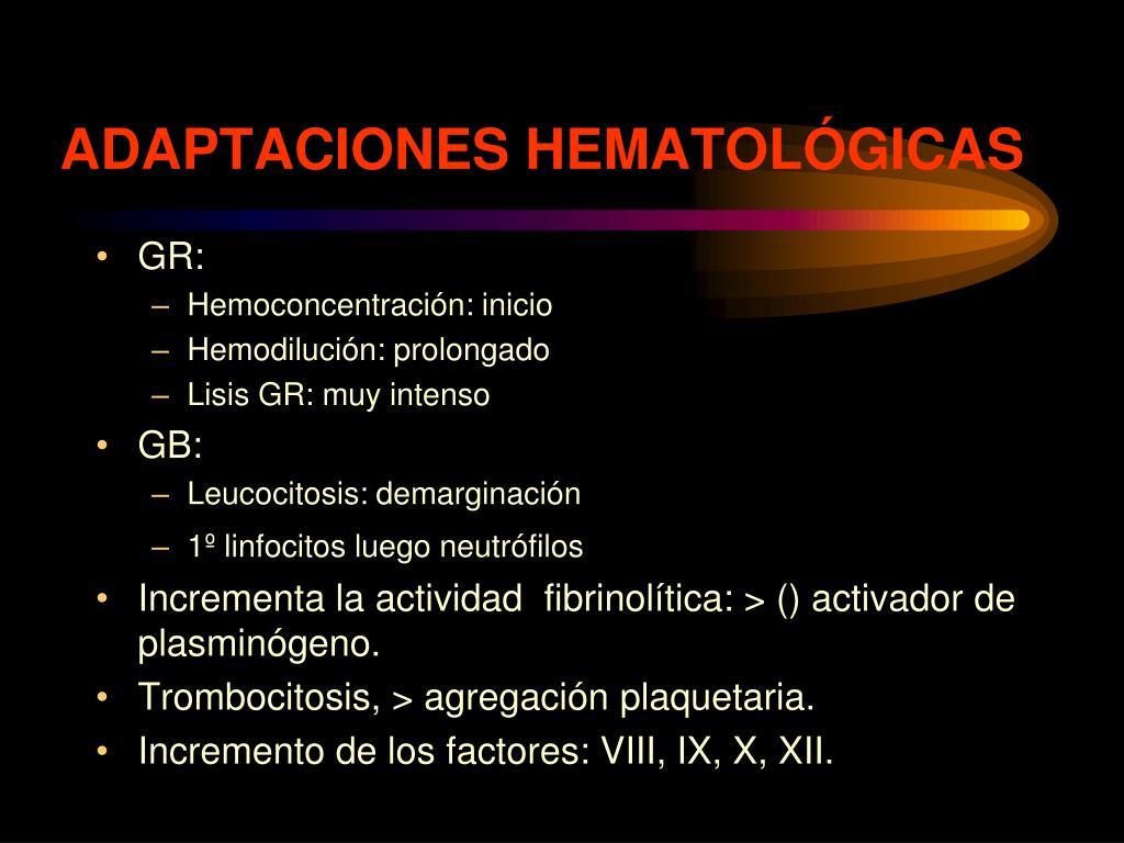 ADAPTACIONES HEMATOLÓGICAS
