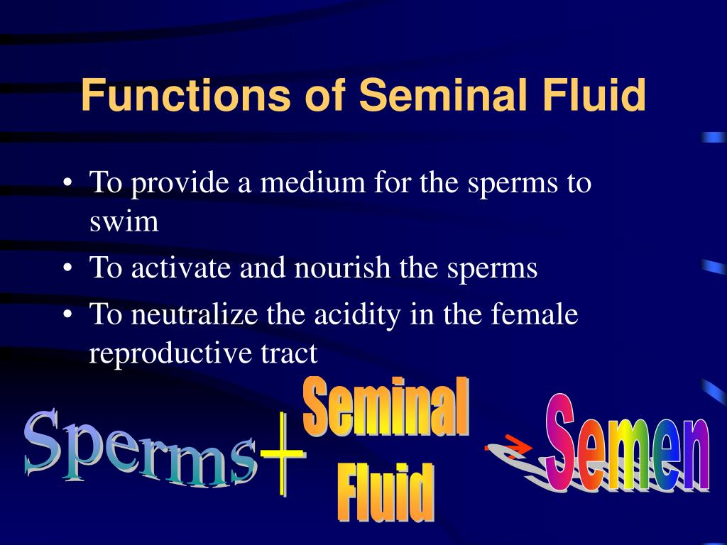 Functions of Seminal Fluid