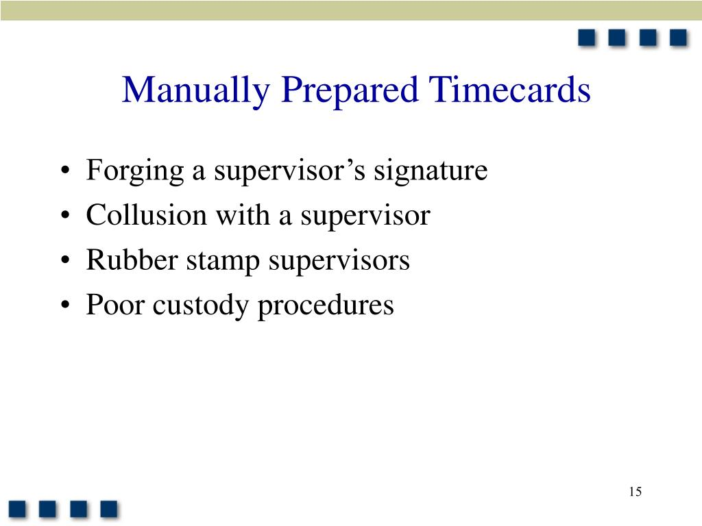 Manually Prepared Timecards