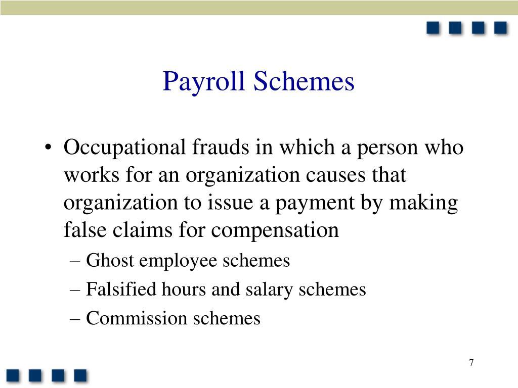 Payroll Schemes