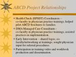 abcd project relationships